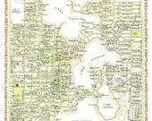 Winter Park, Florida Map - in Two Sizes - print from original drawing