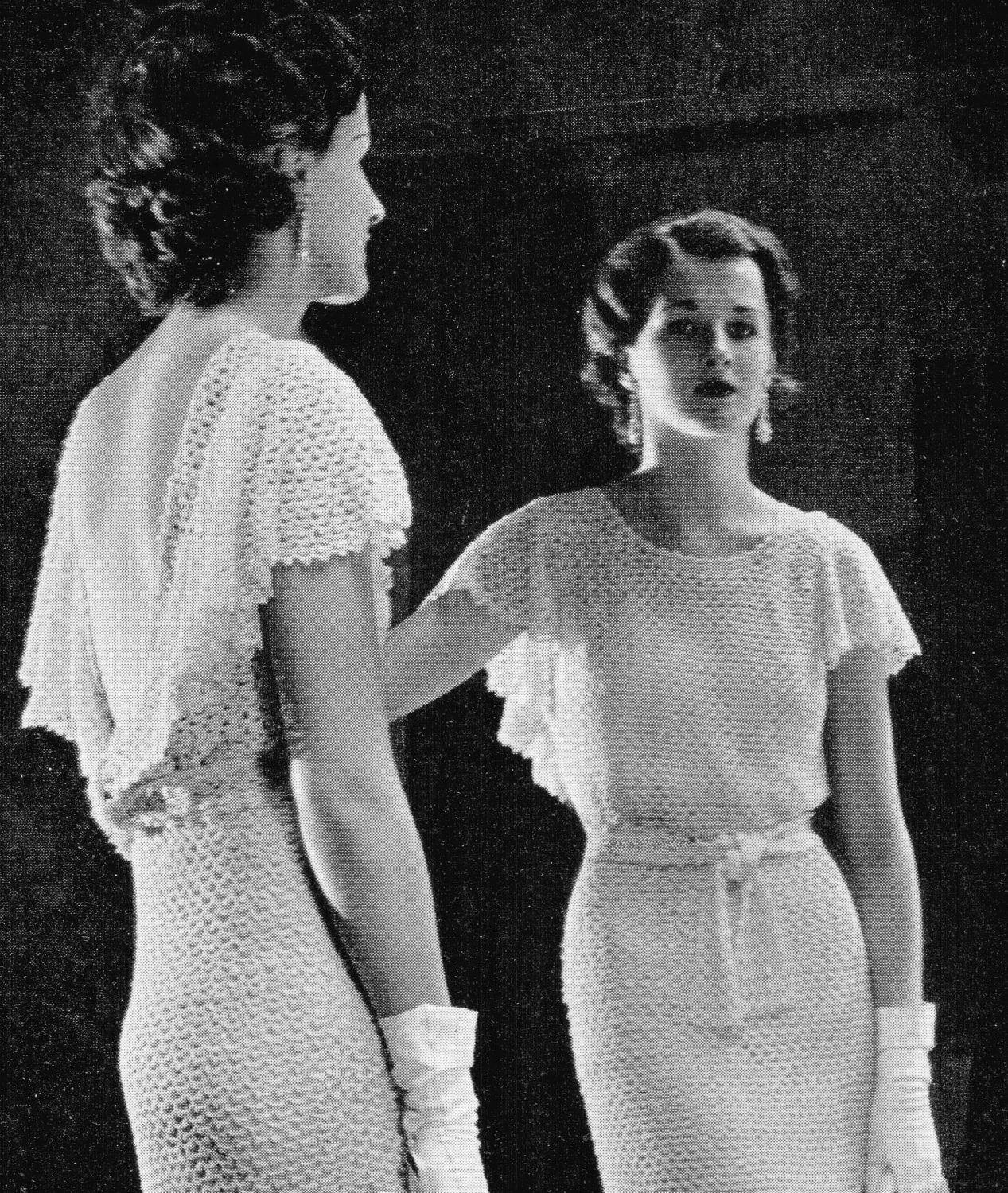 Vintage 30 39 s crochet wedding dress pdf pattern by kissproof for Wedding dress 30s style