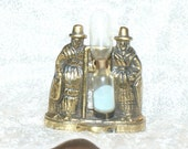 Vintage Collectible Brass Egg Timer