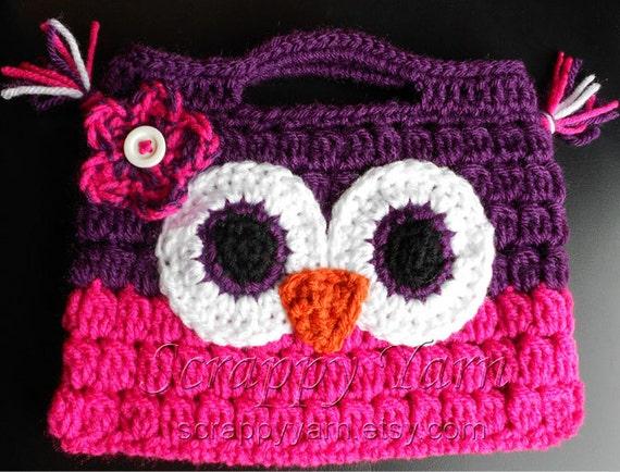 Items similar to Crochet Owl Purse on Etsy