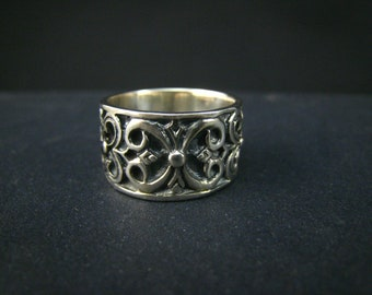 bali sterling silver carving ring