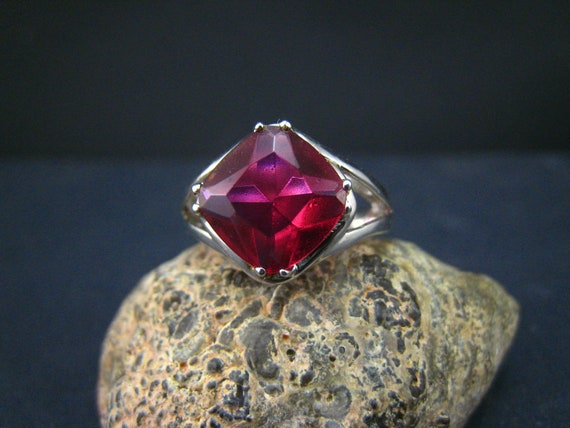 Corundum and Sterling Silver Ring-7