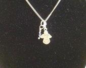 Necklace September Birthstone Angel Charm