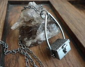 Antiqued Silver Container Necklace