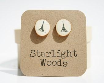 Eiffel tower studs, paris earrings, paris jewelry, minimalisti jewelry, eco-friendly unique gift for her