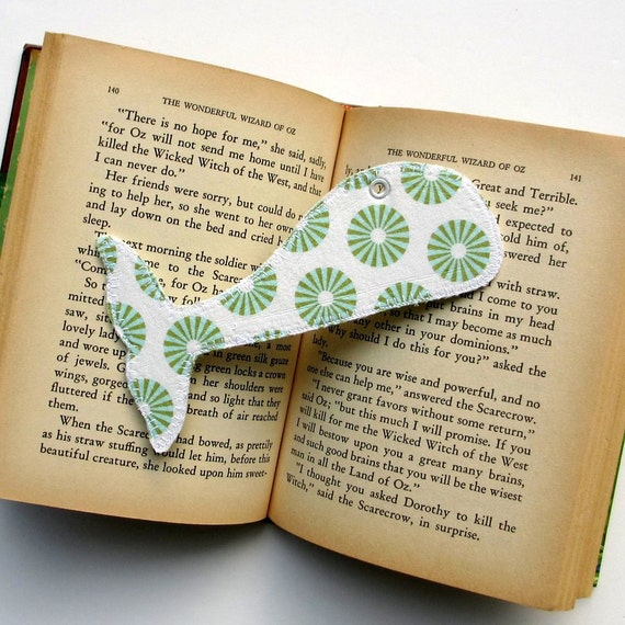 Bookmark, Whale Tail, Fabric Book Mark