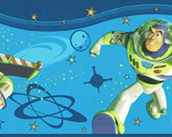 Wallpaper Border - Disney Toy Story and Beyond Blue by Imperial - Pattern KWL2008