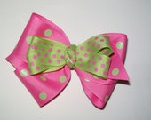 Pink and Green bow