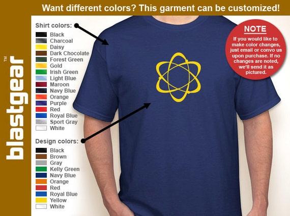 Atom nulcear physics T-shirt — Any color/Any size - Adult S, M, L, XL, 2XL, 3XL, 4XL, 5XL  Youth S, M, L, XL