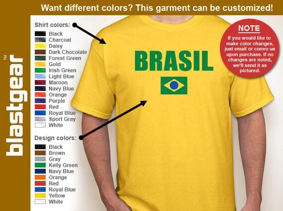 Brasil/Brazil retro T-shirt — Any color/Any size - Adult S, M, L, XL, 2XL, 3XL, 4XL, 5XL  Youth S, M, L, XL