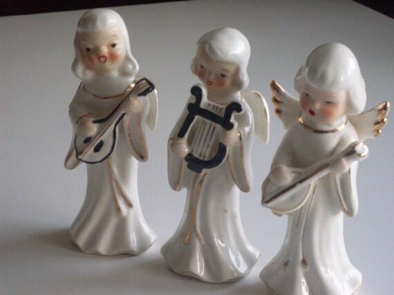 Vintage 1950s Singing Angels Figurines Set of 3