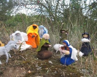 Nativity Scene, Nativity, Epiphany, Christmas, felted nativity scene