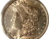 Lightly Toned 1888 O Morgan Dollar NGC graded MS 64