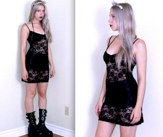 90's Rose Lace Slip or Dress