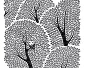 Owl in the one thousand and one leafs tree