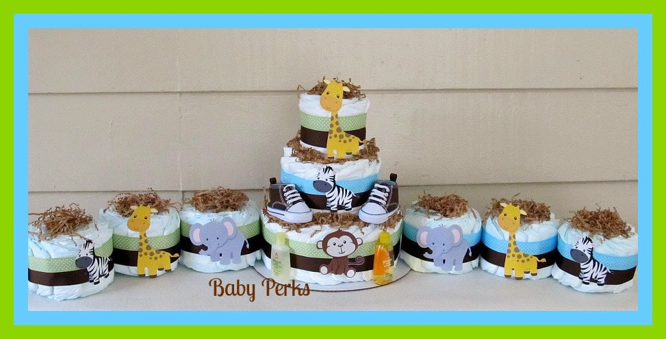 jungle diaper cake jungle baby shower baby shower decorations jungle theme