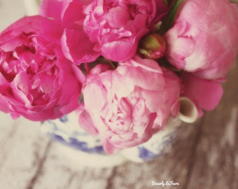 pink, flowers, floral, peonies, fine art photography,