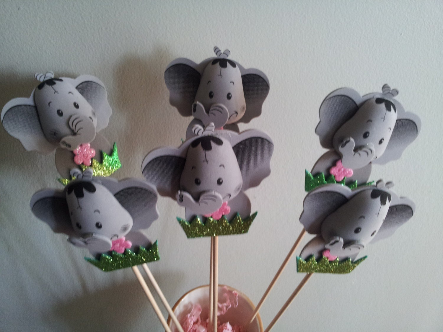 6 foam elephant centerpieces party decorations for Decoration elephant
