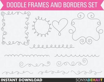 80% OFF Sale Clip Art Doodle Swirl Flourish Frames Flourishes Flourish Border Label