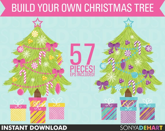 80% OFF Sale Christmas Clipart, Clipart Trees, Christmas Clip Art, Clip Art Trees, Clipart, Clip Art, Christmas Trees
