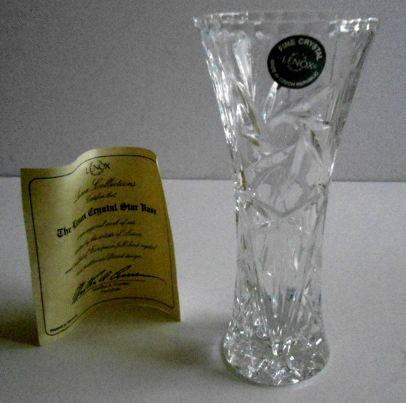 The Lenox Crystal Star Vaselenox Crystal Star Vase Vintage Lenox
