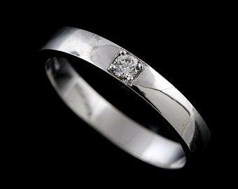 FINAL SALE 35% Off Men's Platinum Diamond Wedding Band 3.5mm Wide