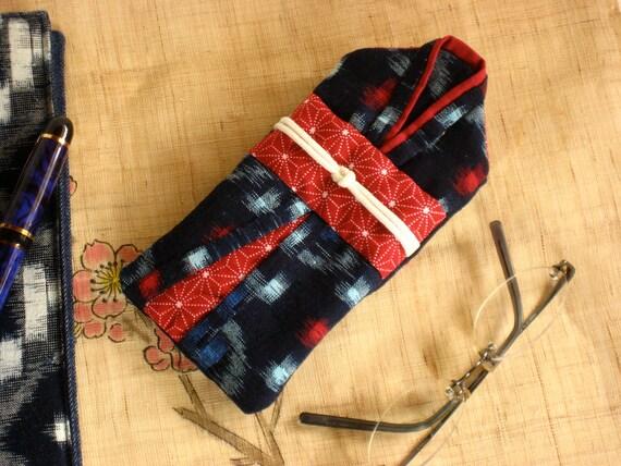 Eyeglass case, mini gadget pouch, quilted case, megane kesu