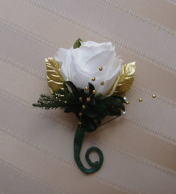 50th Golden Wedding Anniversary Wrist Corsage Pin By