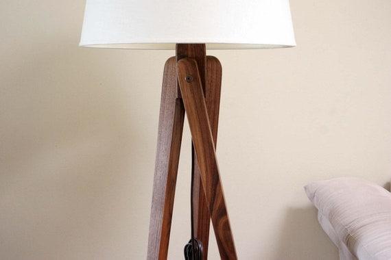 Tripod Floor Lamp Walnut Black Walnut