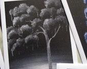 Raven Weeping Tree black and white Surreal Art Greeting Card Any Occasion blank 5x7 Fine Art