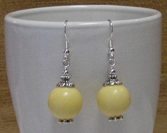 Sunflower Jade Earrings - Yellow Earrings, Gemstone Earrings, Dangle Earrings, Beaded Earrings