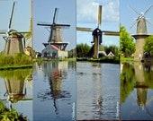 Dutch Windmills Bookmarks, series of 4
