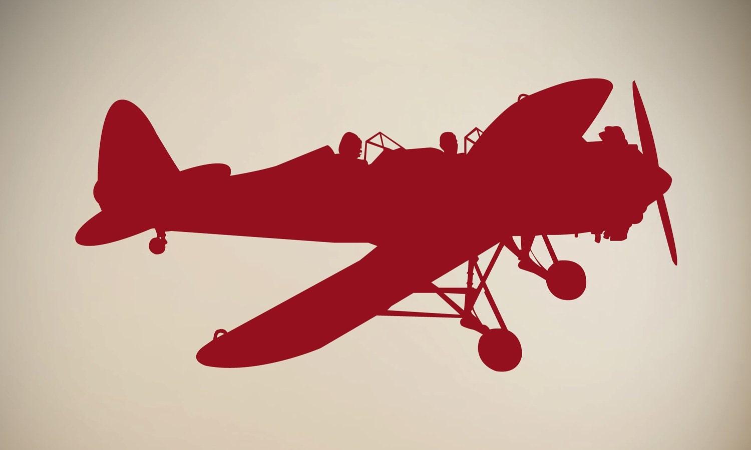 Wall Vinyl Decal Vintage Airplane By Aubreyheath On Etsy