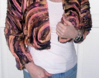 SALE Beautiful silk bolero FIESTA in colorful ribbons
