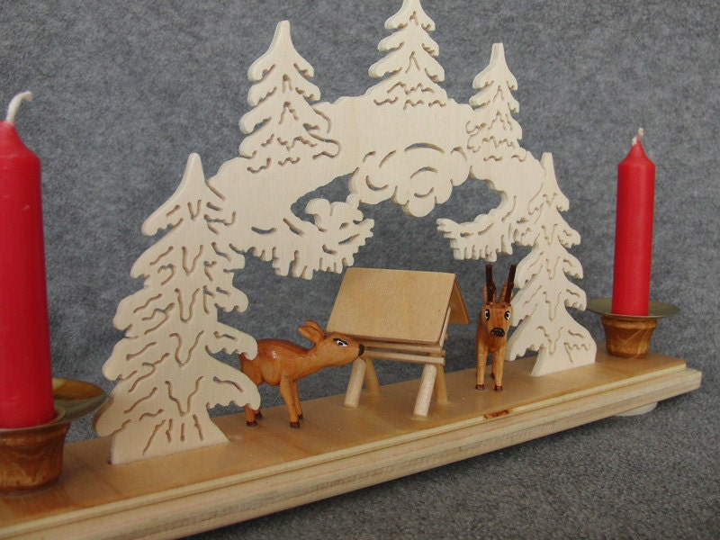 UNIQUE GERMAN Christmas Wood Candle Holder by HermanTheGerman2011