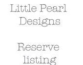 Reserved Listing - Kasten