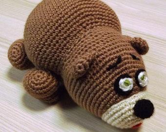 Crochet Bear PDF Pattern, Amigurumi bear crochet pattern, Baby toy Bear