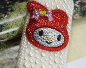 Handmade New Charms Lovely 3D Animal Pearl Colorized Rhinestone Bling Phone Case For HTC ONE S