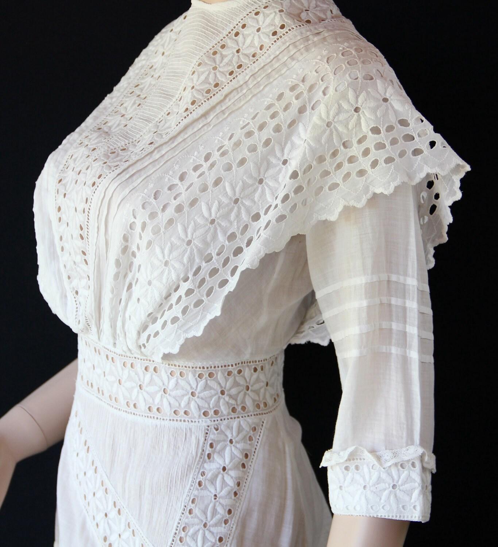 Antique Dress / Edwardian / Early 1900s / Vintage Wedding