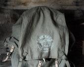 Vintage Ruck Sack Backpack Hiking Kings Sports Book Bag Framed Hiking Backpack