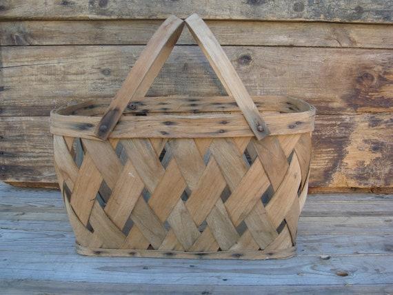 Market Basket Vintage Market Basket Gathering Basket Decorative Basket