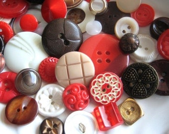 Cherry Garcia Vintage Button Collection -  50 unique buttons