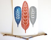 Feather Painting - Archival Print -Sprout Feathers