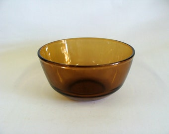 Anchor Hocking Fire King Amber Glass Mixing Bowl, Kitchen Glassware, Housewares