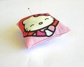 Hello Kitty Pincushion, Red and Pink Pin Cushion