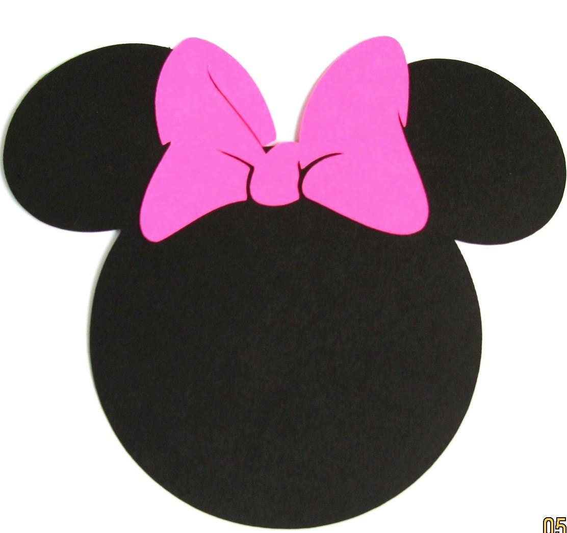 40 pack 5 minnie mouse ears with a hot pink bow diy. Black Bedroom Furniture Sets. Home Design Ideas