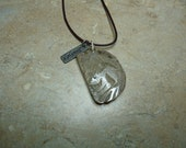 Petoskey Stone Hand Carved Squirrel pendant