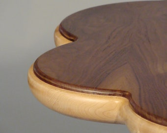 Add Bloom To Your Room:  Curly Maple And Crotch Walnut Pedestal Table