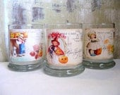 Halloween Candle Holders, Halloween Decoration, Postcard, Vintage Decoration, Cottage Decor, Home Decor