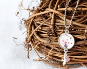 Pendant - Wearable Art - Jewelry - Photography - Necklace - Sterling Silver - Gift For Her - Flower Photography